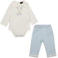 Afbeelding van MonnaLisa 227501 babysetje licht blauw