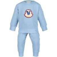Afbeelding van Moncler 8811506 baby joggingpak licht blauw