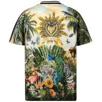 Afbeelding van Dolce & Gabbana L4JT7H G7SQQ kinder t-shirt zwart/groen