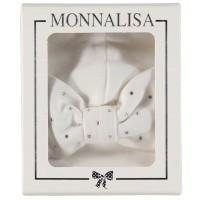 Afbeelding van MonnaLisa 372CAP babymutsje off white