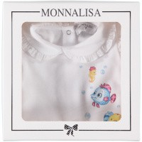 Picture of MonnaLisa 353214PA baby playsuit white