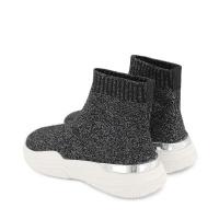 Afbeelding van Mallet MK3030BLKGLT kindersneakers zwart