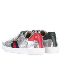 Afbeelding van Gucci 463091 KUSU0 kindersneakers zilver