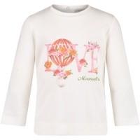 Afbeelding van MonnaLisa 392601S8 baby t-shirt off white
