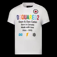 Afbeelding van Dsquared2 DQ0553 baby t-shirt wit
