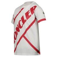Afbeelding van Moncler 8C70120 kinder t-shirt wit/rood