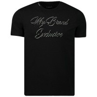 Afbeelding van My Brand MMBTS032GM033 heren t-shirt zwart