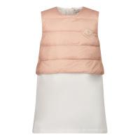 Afbeelding van Moncler 8I50110 babyjurkje off white/roze