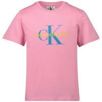 Picture of Calvin Klein IG0IG00221 kids t-shirt pink