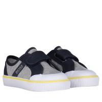 Afbeelding van Boss J09107 kindersneakers grijs