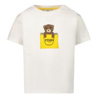 Afbeelding van Fendi BUI016 ST8 baby t-shirt wit