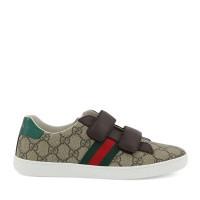 Afbeelding van Gucci 463091 9C220 kindersneakers beige/bruin