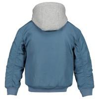 Picture of Tommy Hilfiger KB0KB04473 kids jacket light blue