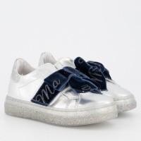 Afbeelding van MonnaLisa 8C4008 kindersneakers zilver/navy