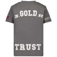 Afbeelding van in Gold We Trust THE PUSHA kinder t-shirt grijs