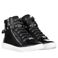 Afbeelding van Michael Kors IVYCADET B kindersneakers zwart