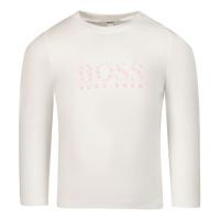 Afbeelding van Boss J95322 baby t-shirt wit