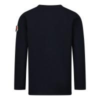 Afbeelding van Moncler 8D71720 baby t-shirt navy