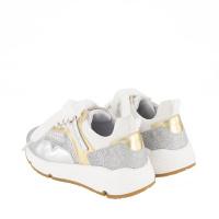 Afbeelding van MonnaLisa 878009 kindersneakers zilver