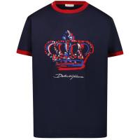Afbeelding van Dolce & Gabbana L4JT8A/G7WUF kinder t-shirt navy