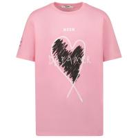 Afbeelding van MSGM 27825 kinder t-shirt licht roze