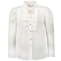Afbeelding van MonnaLisa 716302 kinder overhemd off white