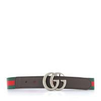 Afbeelding van Gucci 432707 HAENN kinderriem groen/rood