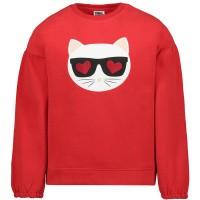 Afbeelding van Karl Lagerfeld Z15205 kindertrui rood