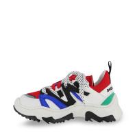Afbeelding van Dsquared2 67081 kindersneakers wit/rood