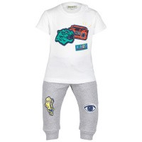 Picture of Kenzo KN36507 baby set light gray