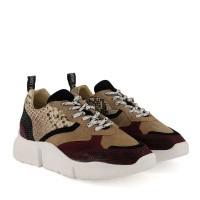 Afbeelding van Deabused 7530 dames sneakers bordeaux