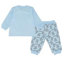 Afbeelding van Moschino MUK02F babysetje licht blauw