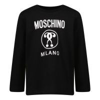 Afbeelding van Moschino MVO005 baby t-shirt zwart