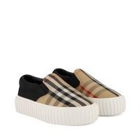 Afbeelding van Burberry 8015274 kindersneakers beige/zwart