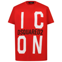 Afbeelding van Dsquared2 DQ0243 kinder t-shirt rood