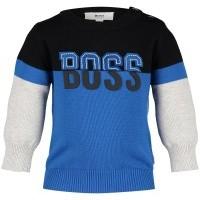Afbeelding van Boss J05666 baby trui cobalt blauw