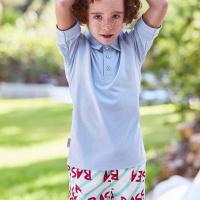 Afbeelding van SEABASS SWIMSHORT kinder zwemkleding mint/roze