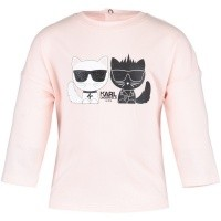 Afbeelding van Karl Lagerfeld Z95041 baby t-shirt licht roze