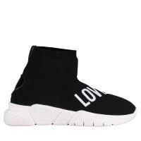 Afbeelding van Moschino JA15183G16 dames soksneakers zwart