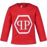 Afbeelding van Philipp Plein ATK0009 baby t-shirt rood