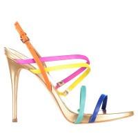 Afbeelding van Guess FL6TN3LEA03 dames sandalen geel