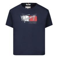 Afbeelding van Tommy Hilfiger KG0KG05909B baby t-shirt navy