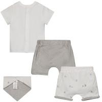 Afbeelding van Givenchy H98109 babysetje wit/grijs