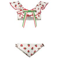 Afbeelding van MonnaLisa 997010 kinder zwemkleding wit/rood