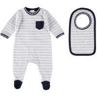 Picture of Boss J98242 baby playsuit light gray