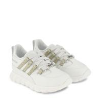 Afbeelding van Dsquared2 66984 kindersneakers wit/goud