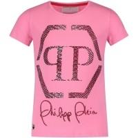 Afbeelding van Philipp Plein GTK0216 kinder t-shirt roze