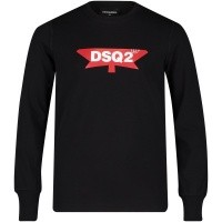 Afbeelding van Dsquared2 DQ030R kinder t-shirt zwart