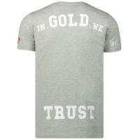 Afbeelding van in Gold We Trust WK001102011022TS heren t-shirt grijs
