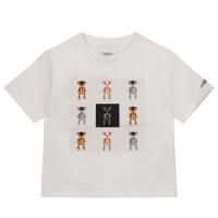 Afbeelding van Burberry 8044611 baby t-shirt wit